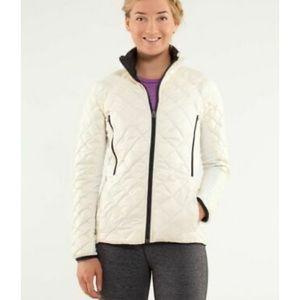 Lululemon Run: Reversible Jacket Polar Cream Black